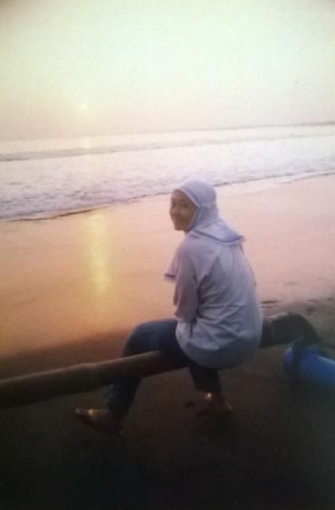 Senja di pantai barat